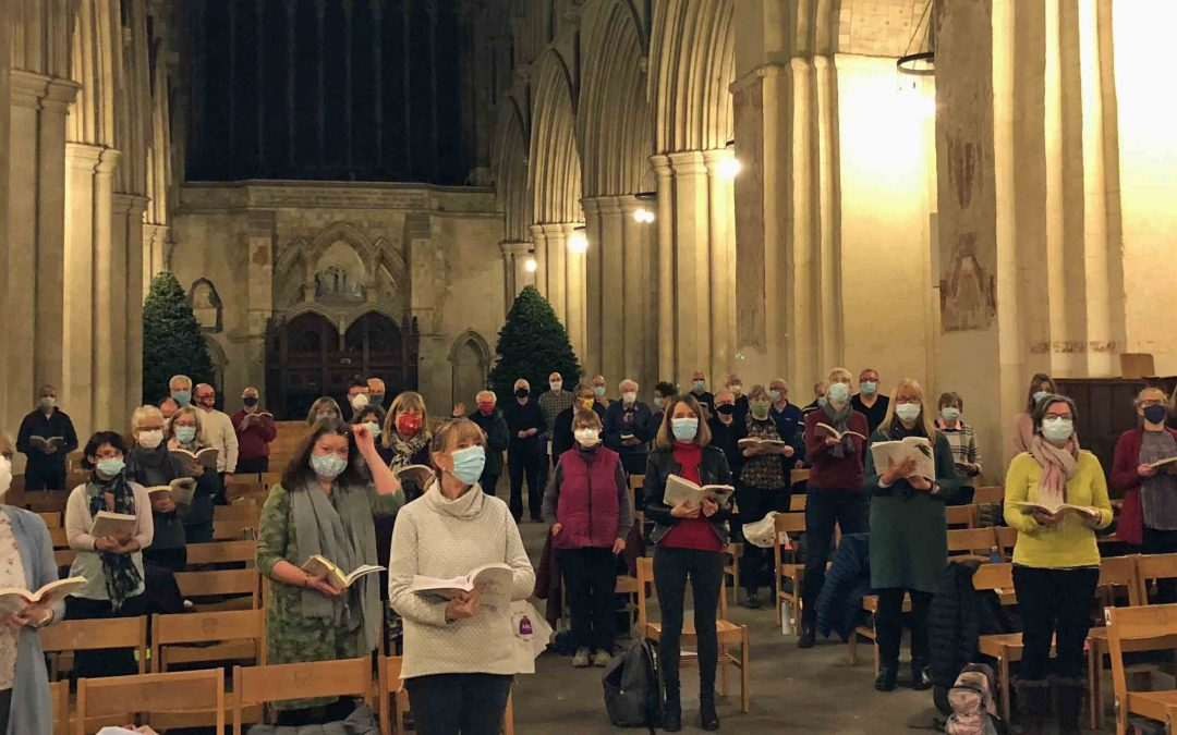 Choir raises £2,096 for charity with 'distanced' carols